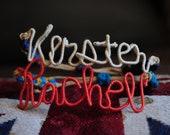 Personalized Name Wire Hemp Bracelet