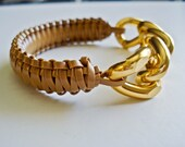 Sunkisss Chunky Chain Gold Bracelet in Nudeberry
