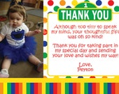 Sesame Street Thank You Cards, Primary Colors - Custom Digital File