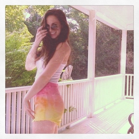 Sunset Ombre High Waisted Shorts