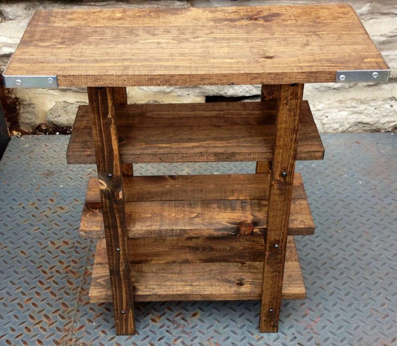 rustic wooden mini shelf by awalkthroughthewoods on etsy. Black Bedroom Furniture Sets. Home Design Ideas