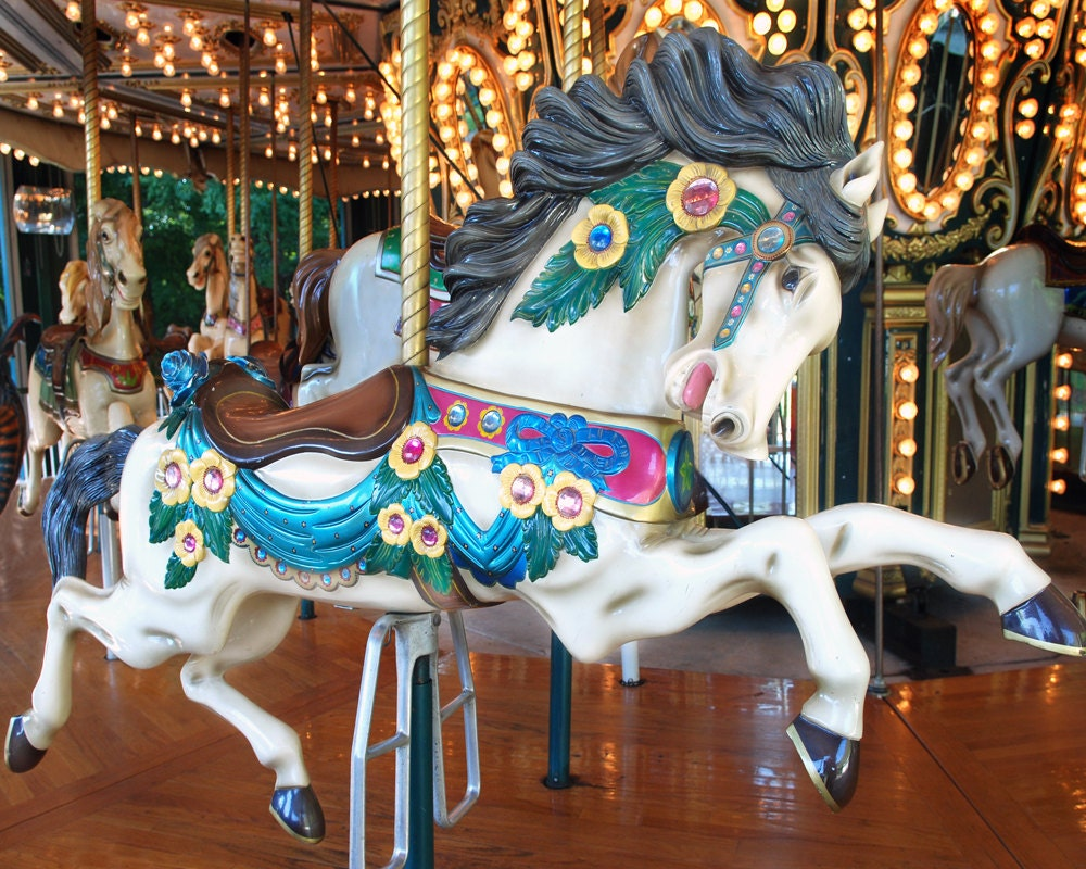 Carousel Horse Galloping carousel horse