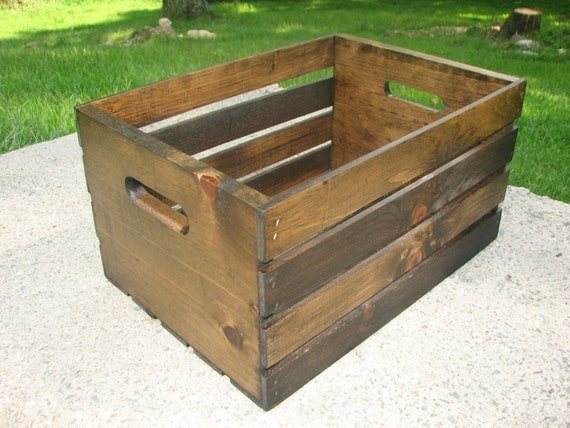 Items similar to crate rustic free shipping pine wood decorative in almost any color you - Decorative wooden crates ...