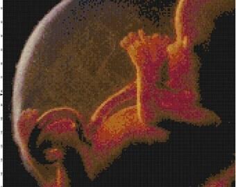 Baby In Utero Handmade PDF Cross-Stitch Pattern