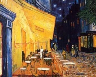 Handmade Van Gogh Cafe Terrace PDF Cross-Stitch Pattern
