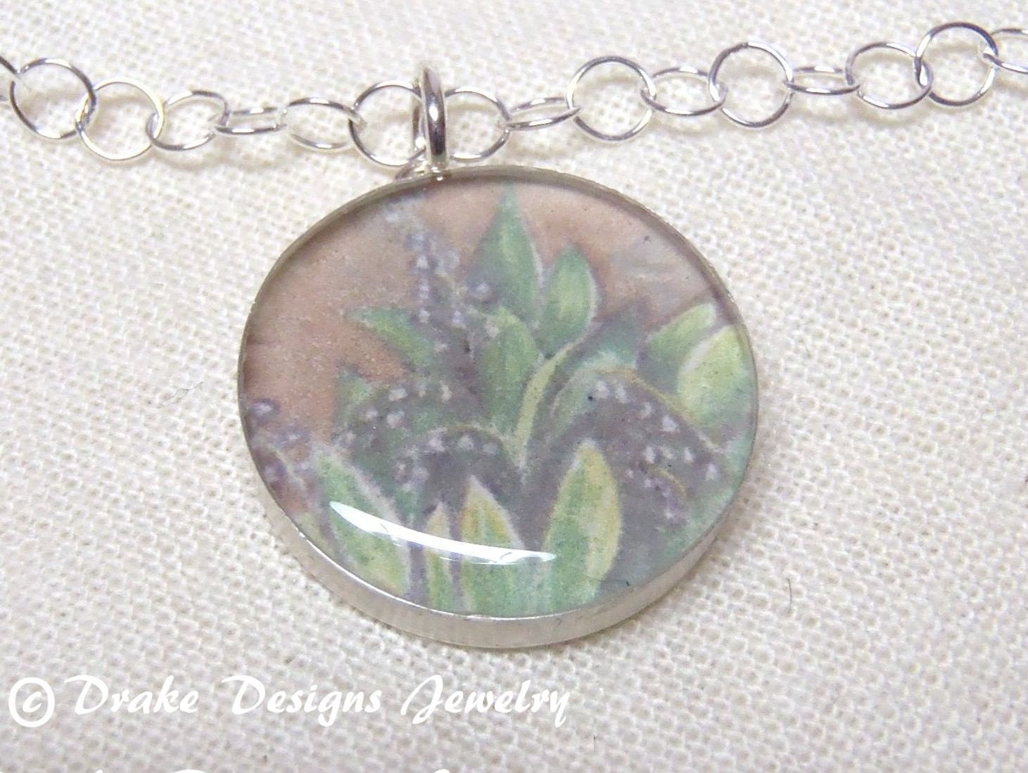 May Birth Flower Jewelry Sterling Silver Necklace with
