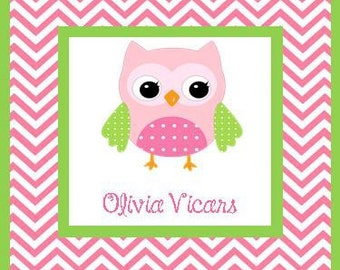 Owl Gift Enclosures -Set of 24 gift card enclosure cards or stickers.