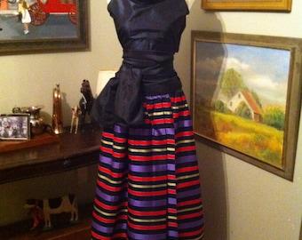 Vintage Ellen Tracy long wrap skirt.