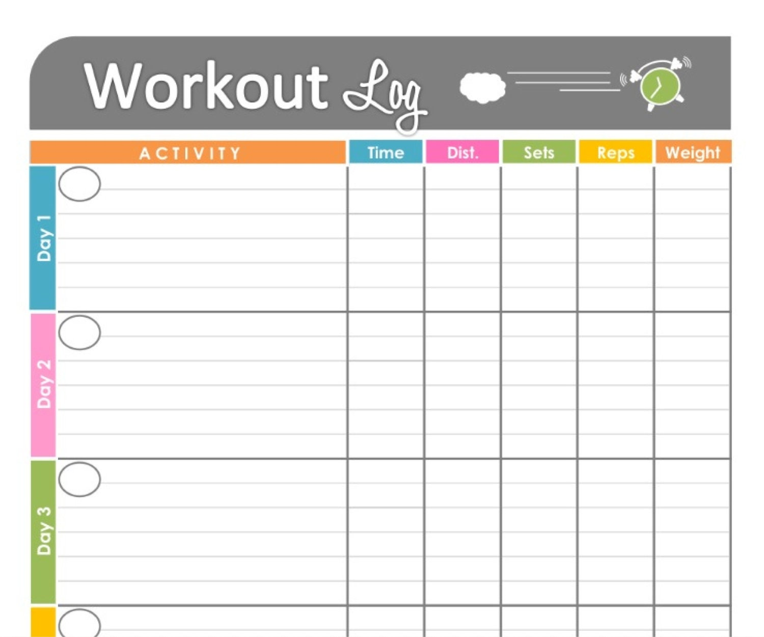 Monthly Fitness Calendar Printable | Calendar Template 2016