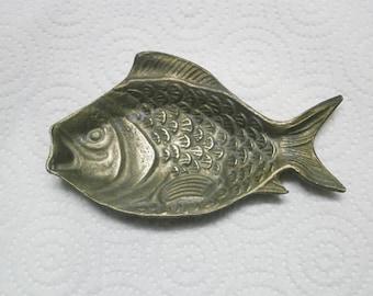 Vintage Decorative Brass Fish