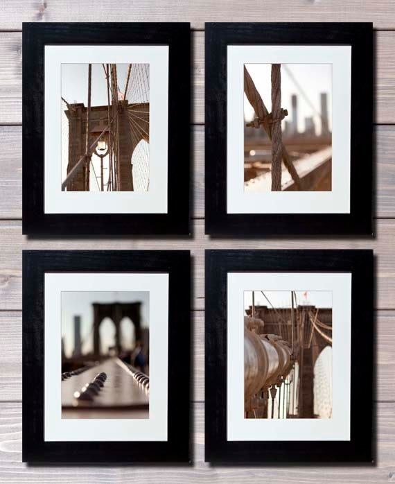new york photography set of 4 brooklyn bridge large wall