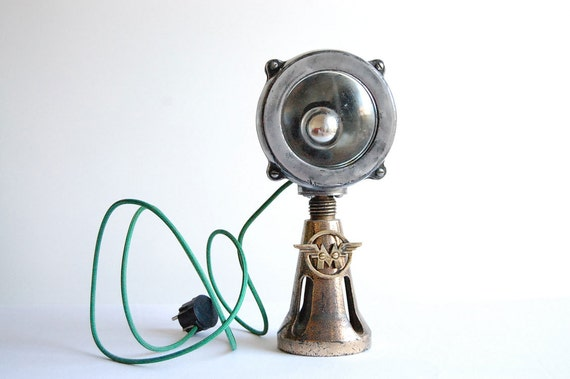 Matchless. Handcrafted, vintage industrial desk lamp