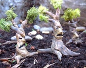 Troublesome Tree..Fairy House Miniature One Tree Terrarium Accessories Fairy Garden House Miniature Tree Fantasy Clay Trees Terrarium Decor