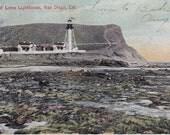 Postcard of Point Loma Lighthouse, San Diego, Cal. 1907