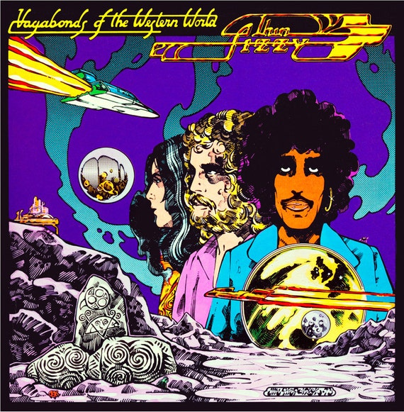 "Thin Lizzy Vagabonds Of The Western World Album Cover 16.5"" x 11.69"" Print."