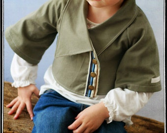 INSTANT DOWNLOAD Girls Bolero Jacket PDF Sewing Pattern by Leila and Ben