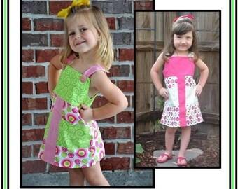 INSTANT DOWNLOAD Girls Dress PDF Sewing Pattern McKensie by Nanoo Designs