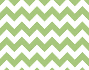 SALE 1 Yard Riley Blake Chevron in Green