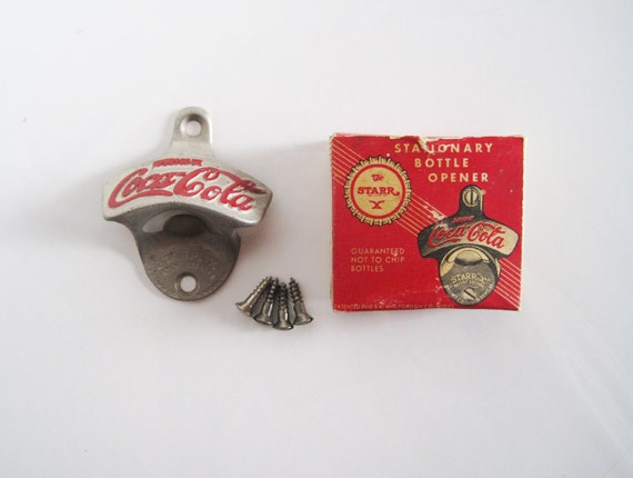 coca cola vintage starr x bottle opener from by reversechronology. Black Bedroom Furniture Sets. Home Design Ideas
