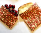 Reusable SANDWICH and SNACK BAG Set - Funky Leopard