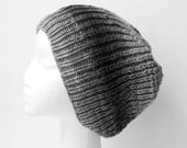 Gradient Beanie / Slouch (black & grey)