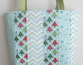 Christmas tote bag Kate Spain JOY by Moda patchwork purse 10% off