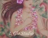 Set of 2, Hula, Hawaiian 11 x 14 Art Print - Inventory Sale