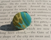 Upcycled Turquoise Drop Ring