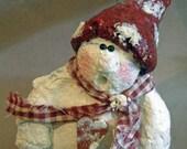 Paper Mache Snowman