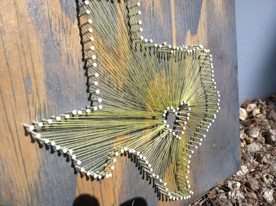 10 x 10 - State String Art - Texas - Wall Hanging - Home Decor