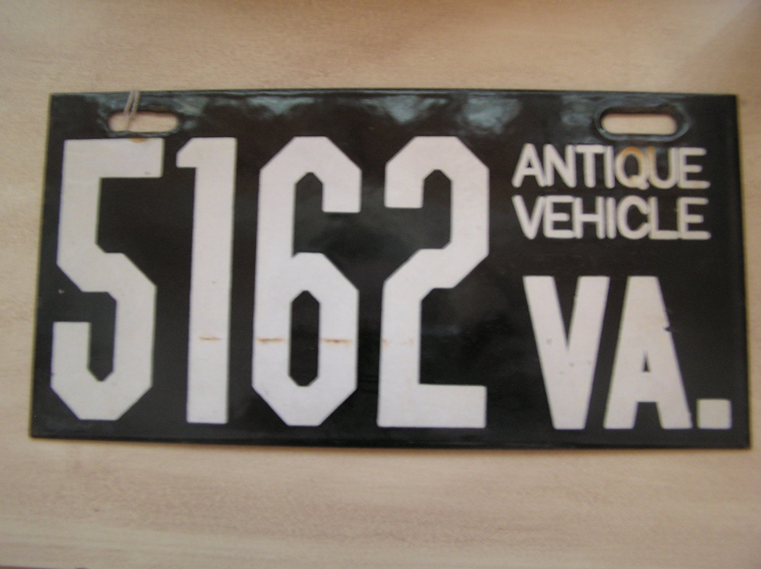 Porcelain Va Antique Vehicle License Plate