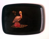 Pelican Couroc Tray - Vintage with Beautiful Inlay