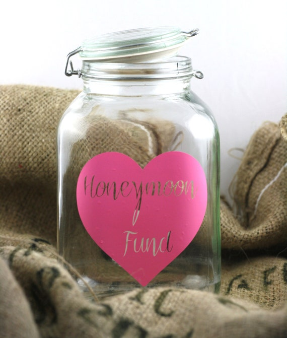 Wedding Signs, Honeymoon Jar, Wedding Jar, Vinyl, Date Night Jar, Chore Jar, I'm Bored Jar, Wedding Decor - WJ-3