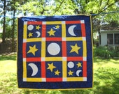 Applique Crib Toddler Bedding Neutral Baby Crib Stars and Moon Bedding Neutral Toddler Bedding  Blue Red Yellow Love You To The Moon Playmat