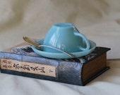 Teacup Night Light, Turquoise