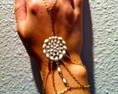 Gold and Cream Rock Hand Harness