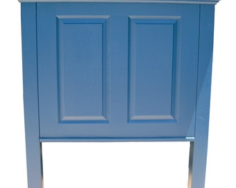 Headboards made from doors - Twin size headboard with legs - Arctic Night (Blue)