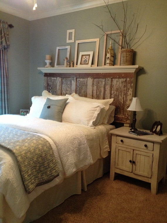 Headboards made from distressed old doors - King, Queen and full size door headboards.