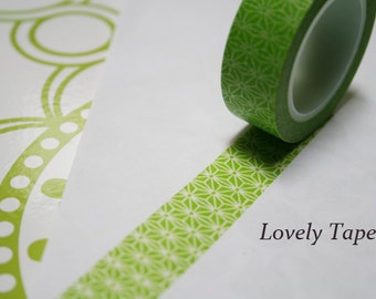 Green Starburst Washi Tape