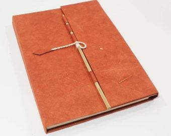 Handmade Notebook Journal Eco Friendly Lokta paper hard cover Diary