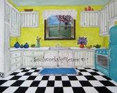 Retro Kitchen - Bright and cheery 8 x 10 print
