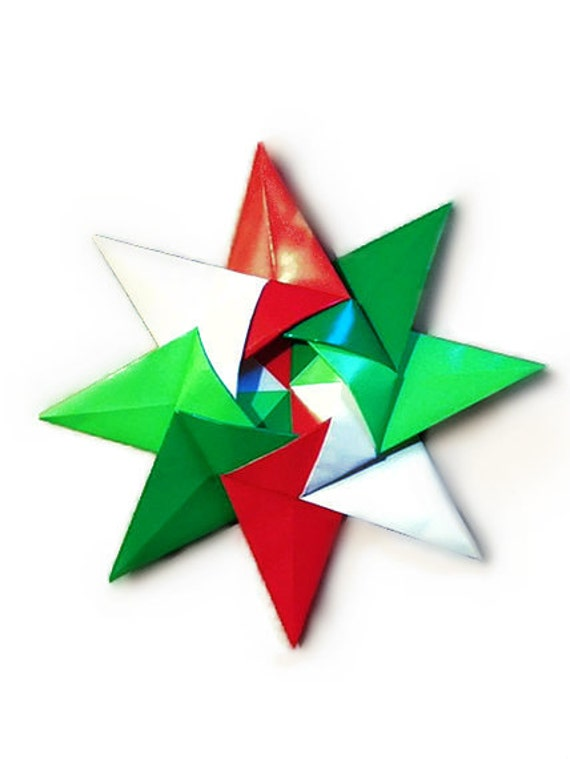 Origami Christmas Kalami Star (Designed by Christine Blasek)