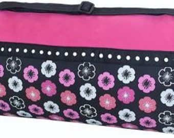 Personalized or Monogrammed Dance, Ballet,Gymnastics, cheer bag Pink and black Duffle Bag