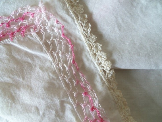 Lot of 23 White and Cream Ladies Handkerchiefs with Embroidered Accents