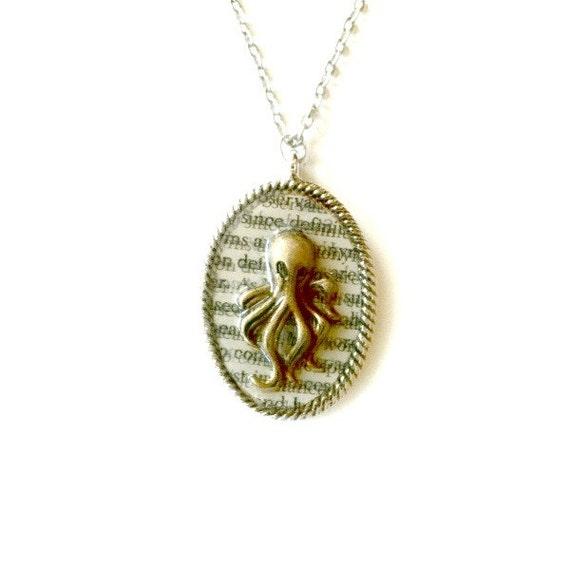 Squid necklace Steampunk octopus Handmade Gift
