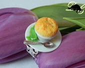 Cheese Soufflé Ring (In Stock) -Filigree or plain style ring band now available-