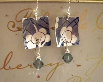 Patch of Sky Vintage Tin Earrings