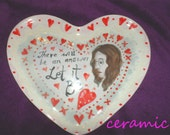 John Lennon Ceramic Heart Dish . Collectors item