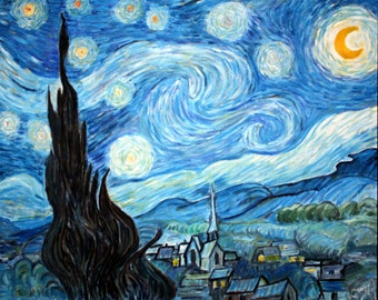 Replica of Van Gogh's The Starry Night - 100% hand painted oil on canvas