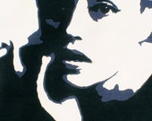 Papercut Art Print of Jeanne Moreau- 1960s French Actress -Original Hand-Cut Illustration- 8.5 x 11 Archival Gloss Print